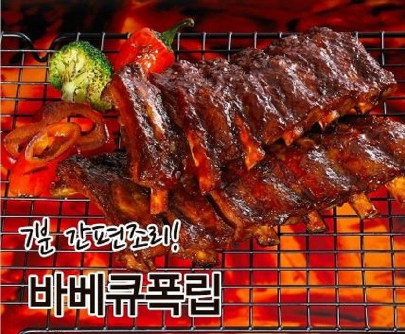 캠핑요리추천  최고급형 바베큐폭립 400g - 5팩(오리지널3/매콤2)