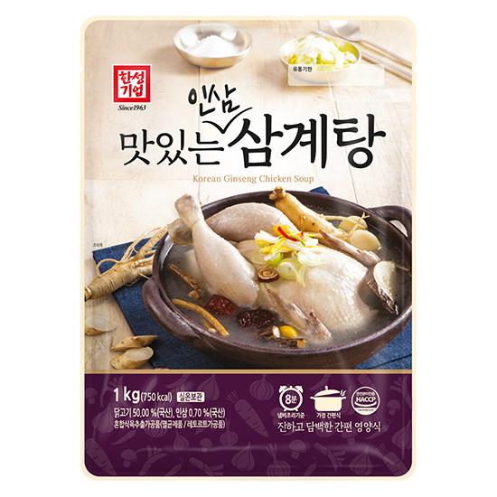 [한성기업] 맛있는 인삼삼계탕 1kg*3 & 육개장 500g*5