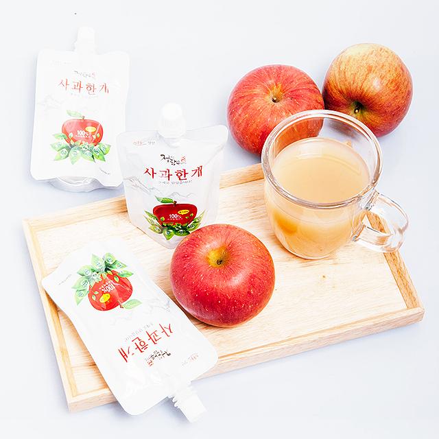 [정선드림] 정선담은 미소 사과한개 사과쥬스 사과즙 30팩