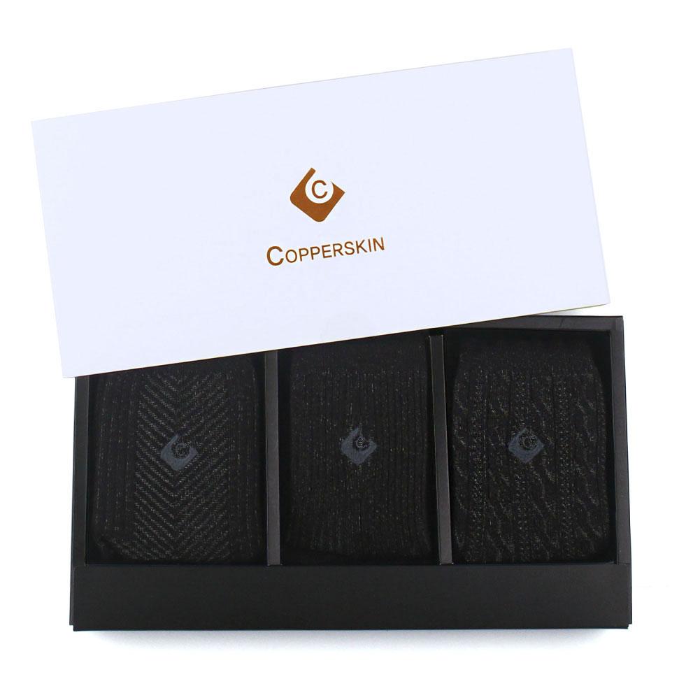 선물세트 카퍼스킨 남성 양말 중목갑종 3족 BLK